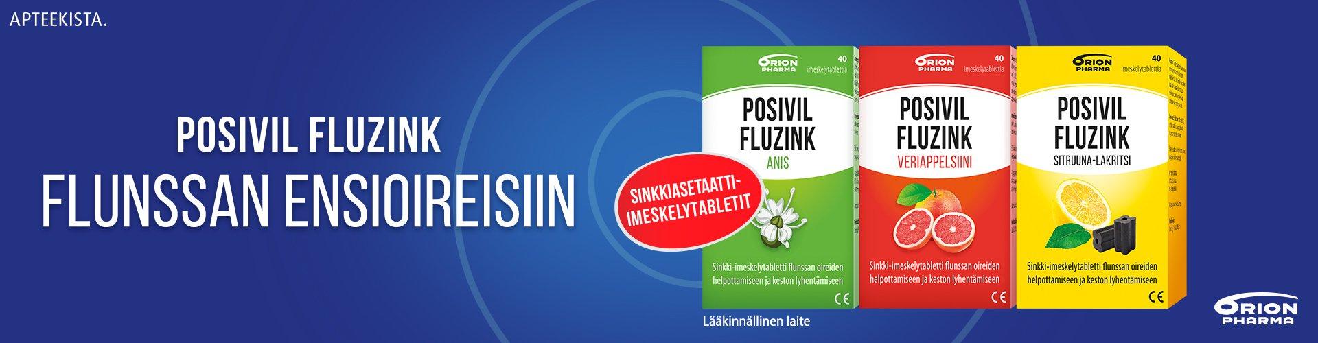 Posivil Zink flunssan ensioireisiin