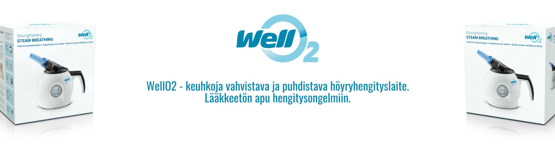 WellO2 höyryhengitys hengityslaite hyvinvointilaite