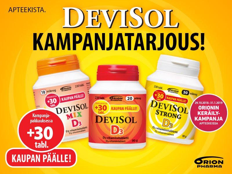 Devisol kampanjatarjous  +30 tablettia kaupanpäälle