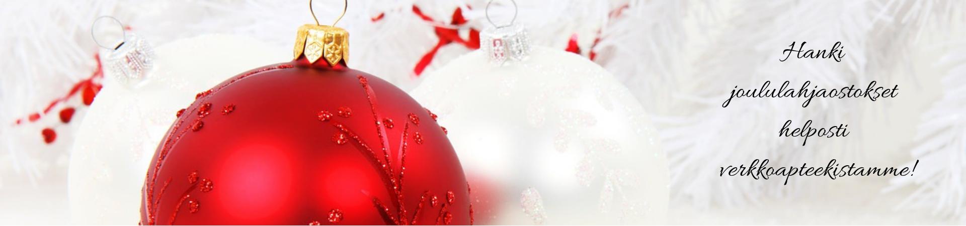 Hanki joululahjaostokset helposti verkkoapteekista