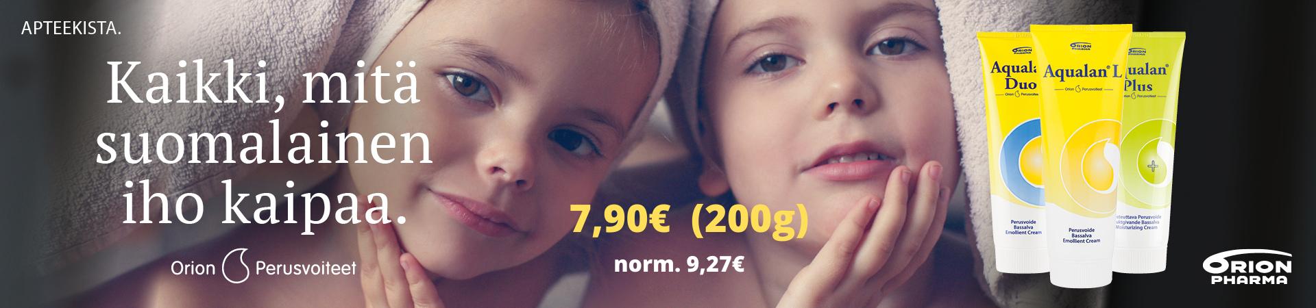 Aqualan L, Aqualan Duo, Aqualan Plus 200g joulukuun tarjous 7,90€