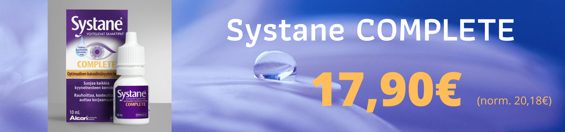 Systane Complete 10ml tarjous 17,90€