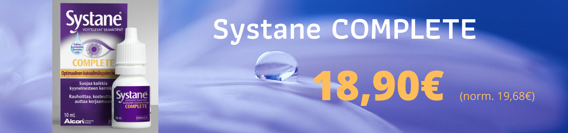 Systane Complete 10ml tarjous 18,90€
