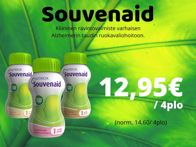 Souvenaid 4 pulloa tarjous 12,95€ halvalla