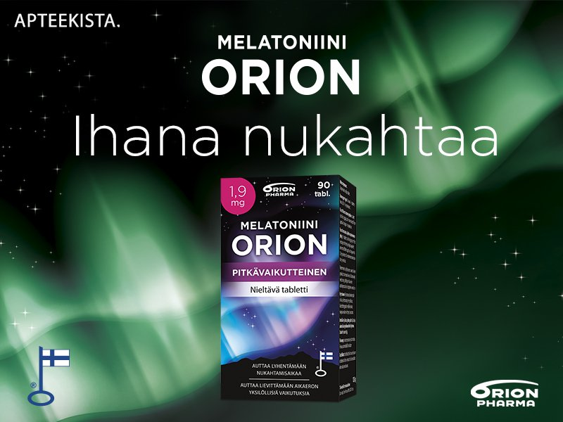 Melatoniini Orion pitkävaikutteinen tarjous sale halpa rea