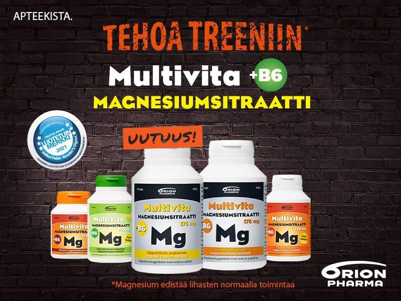 Multivita Magnesium lihakset suonenveto tarjous treenaaminen kuntosali