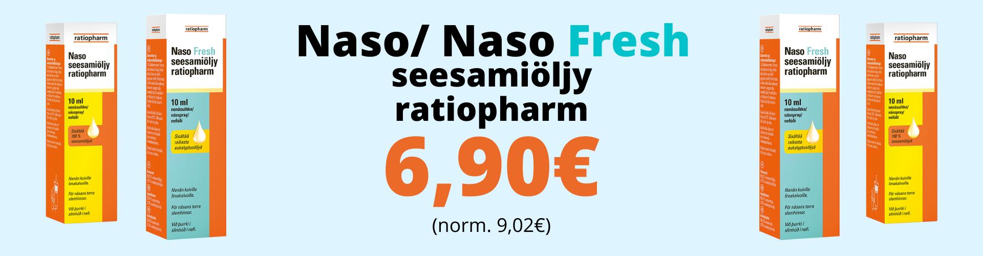 naso fresh seesamiöly kuivat nenän limakalvot verta nenästä