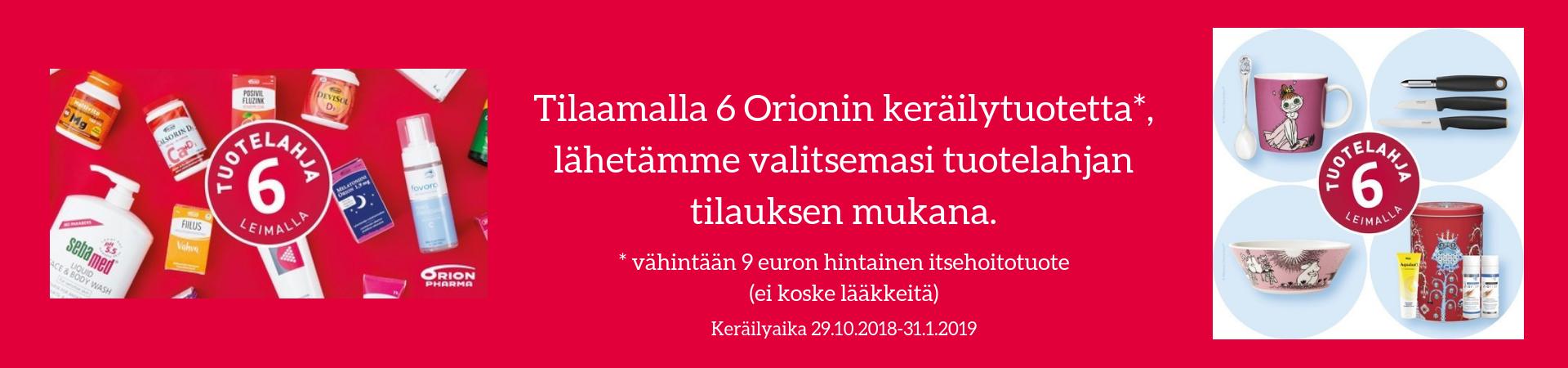 Orion keräilykampanja syksy 2018
