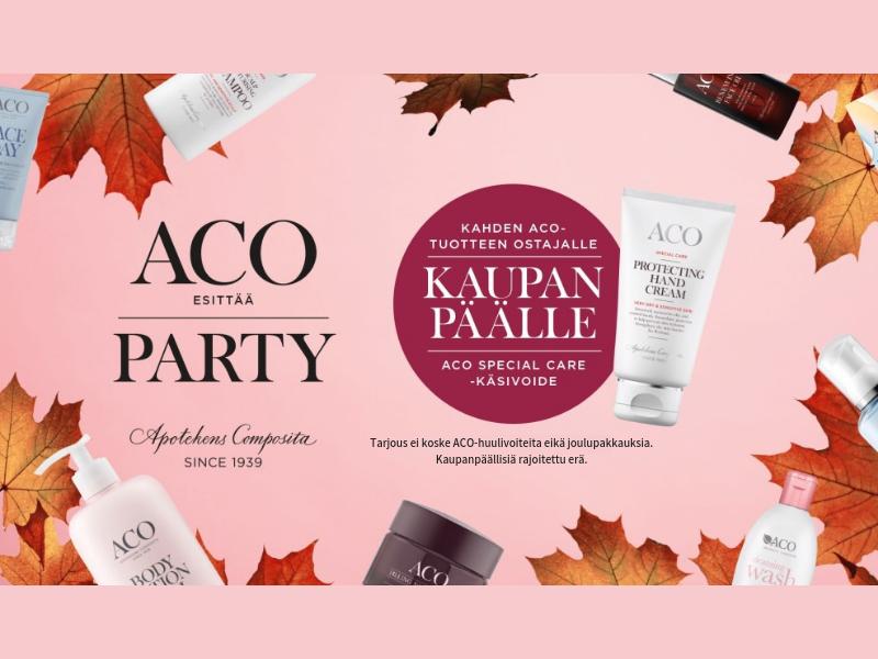 Aco Party kampanja käsivoide