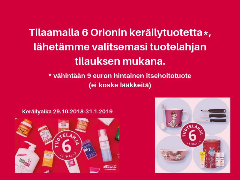 Orion keräilykampanja 2018
