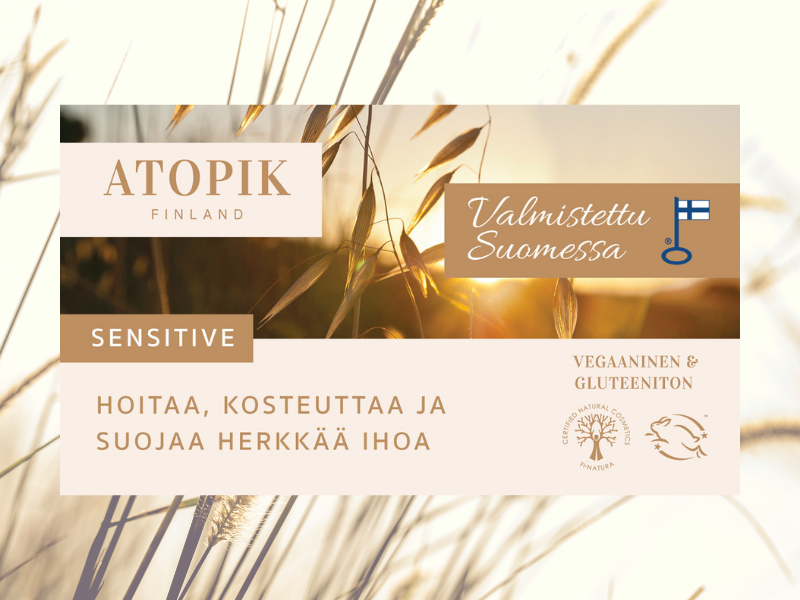 Atopik suomalainen luonnonkosmetiikkasarja, vain apteekista