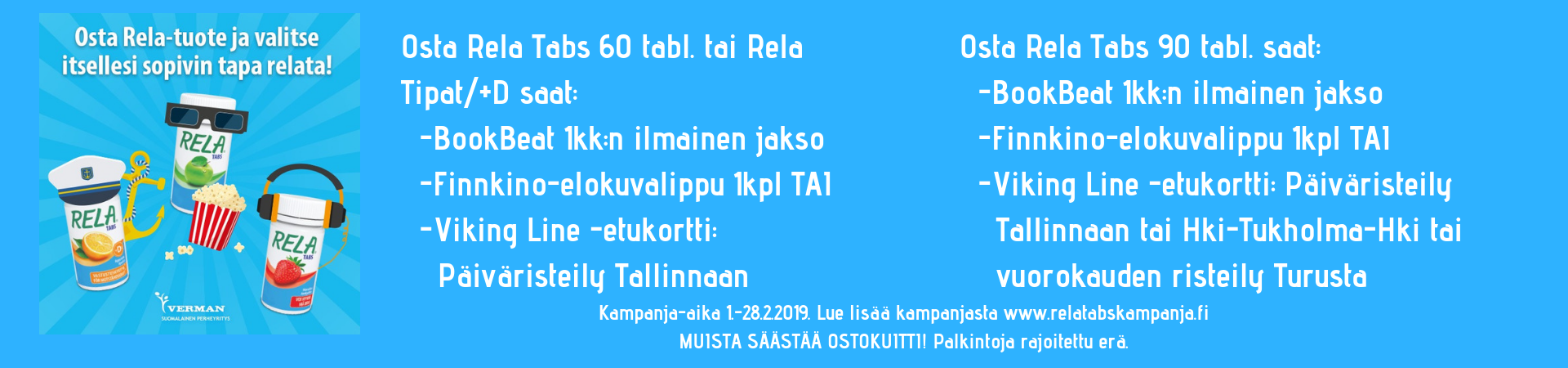 Relatabs maitohappobakteeri kampanja helmikuu 2019