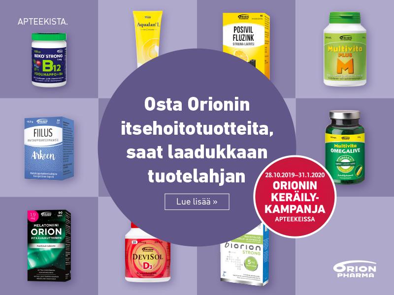 Orionin keräilykampanja 28.10.2019-31.01.2020 syksy 2019