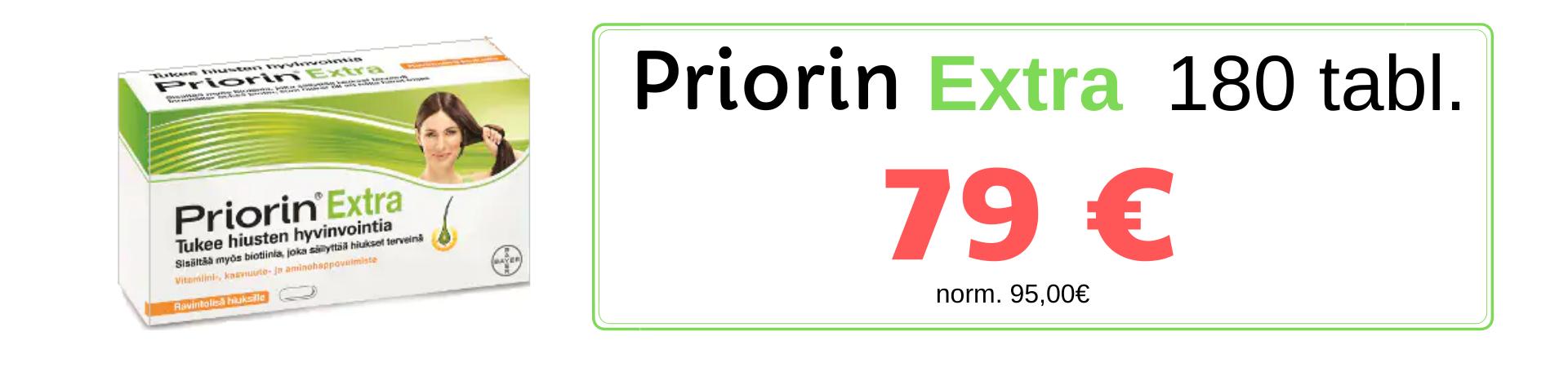 Priorin Extra 180 tabl tarjous 79€