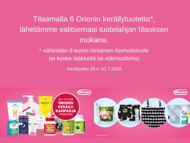 Orion keräilykampanja kevät/kesä 2019