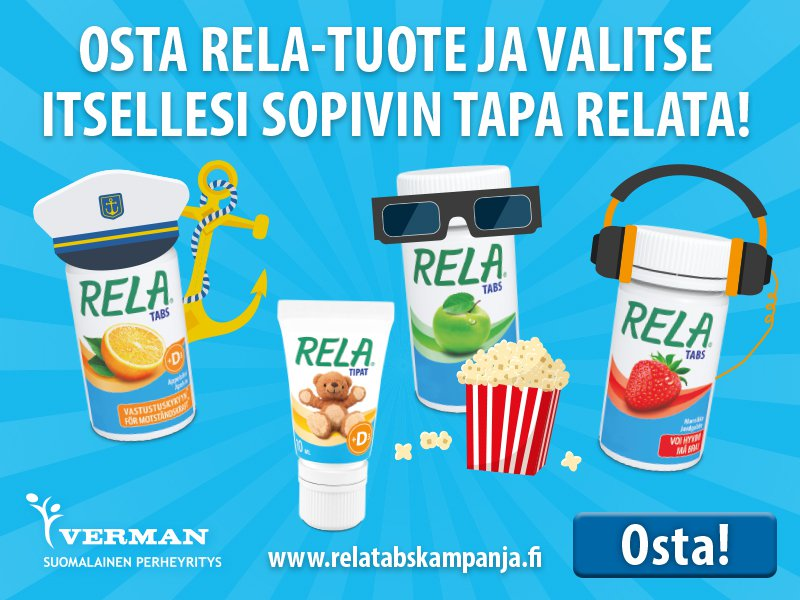 Rela kampanja Finnkino BookBeat Vikin Line