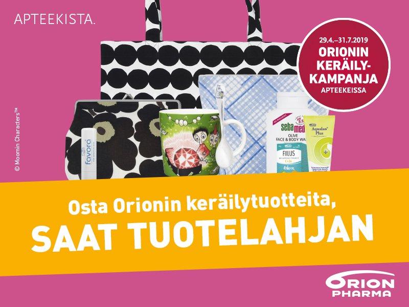Osta Orionin keräilytuotteita, saat tuotelahjan