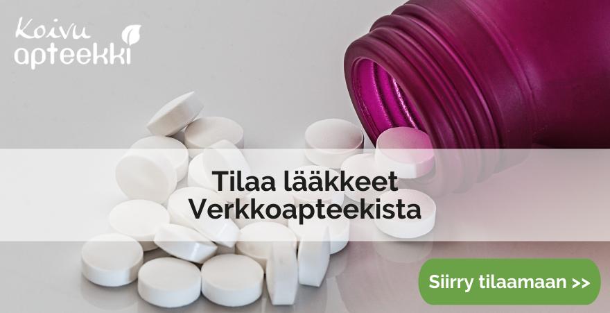 Tilaa lääkkeet verkkoapteekista