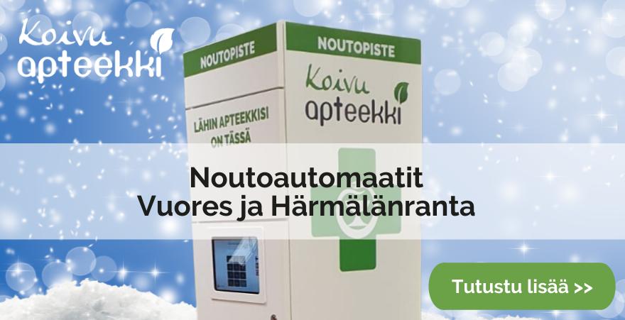 Noutoautomaatit Vuores ja Härmälänranta