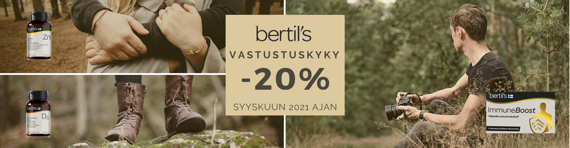 BERTILS VASTUSTUSKYKY -20% SYYSKUUN AJAN