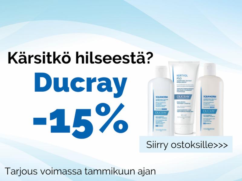 Ducray hilsetuotteet tarjouksessa -15%