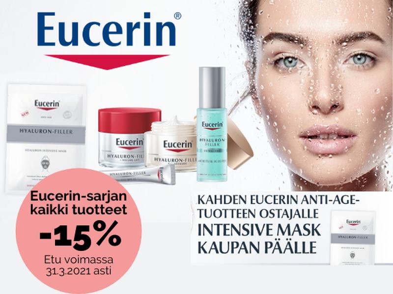 Eucerin -sarjan kaikki tuotteet -15% maaliskuun ajan