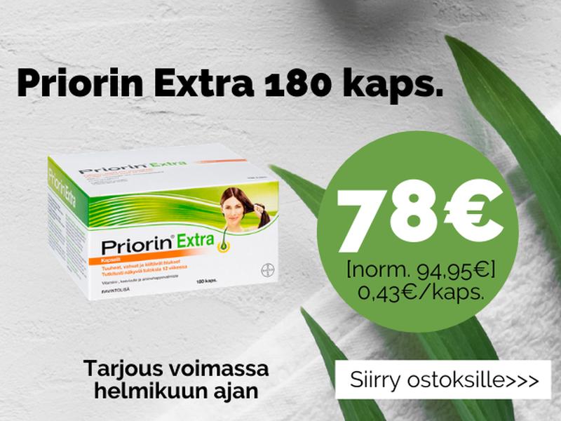 Priorin Extra -tarjous helmikuun ajan