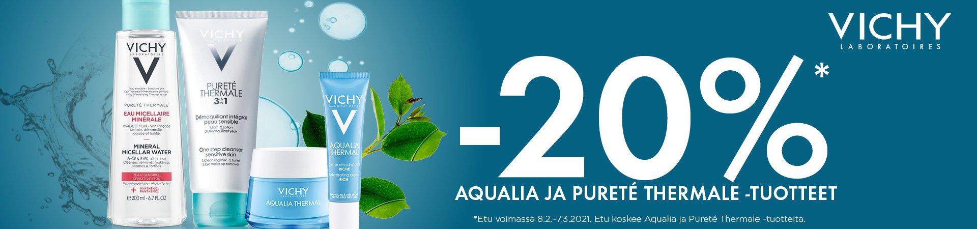 VICHY Aqualia ja purete thermale Puhdistustuote -20%