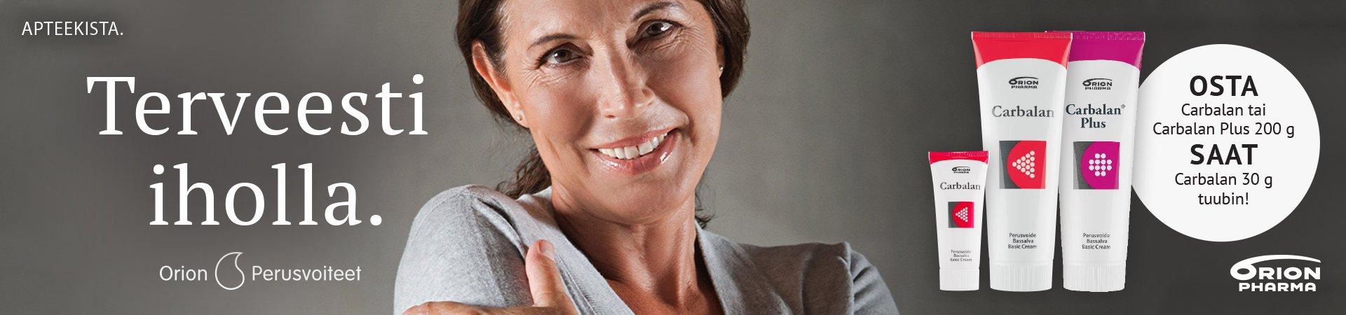 nettiapteekki verkkoapteekki carbalan kuiva iho perusvoide tarjous