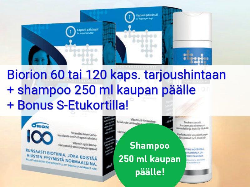 biorion tarjous shampoo kaupan päälle