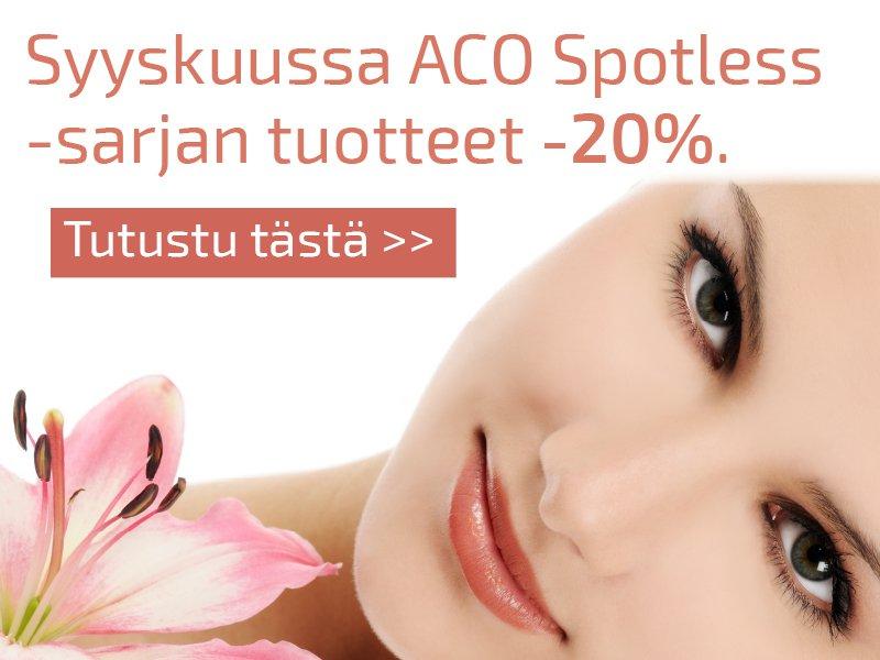 aco spotless kosmetiikka tarjous