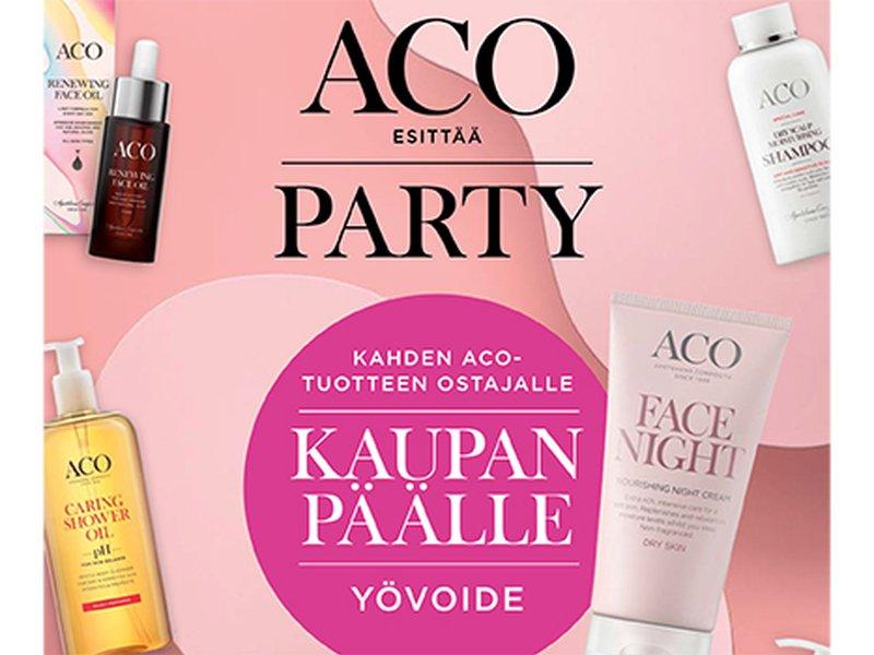 verkkoapteekki nettiapteekki kosmetiikka aco party tarjous