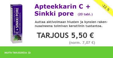 Apteekkarin C+Sinkkipore