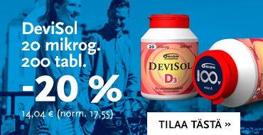 DeviSol 20 mikrog 200 tabl.