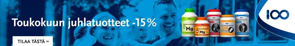 Toukokuun juhlatuotteet -15 %