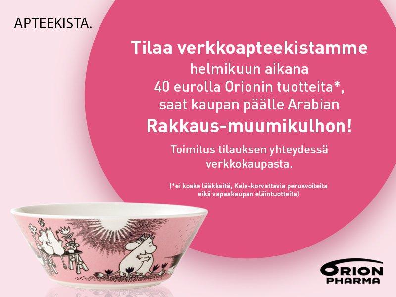 muumikulho orion orion pharma kampanja