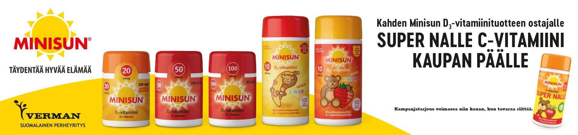 minisun, d-vitamiini, kampanja, kaupan päälle