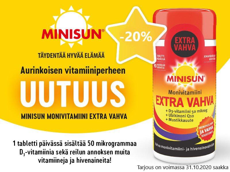Minisun Extra Vahva edullisesti