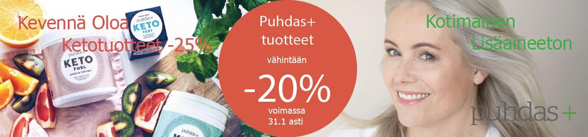 Puhdas + tuotteet - 20%