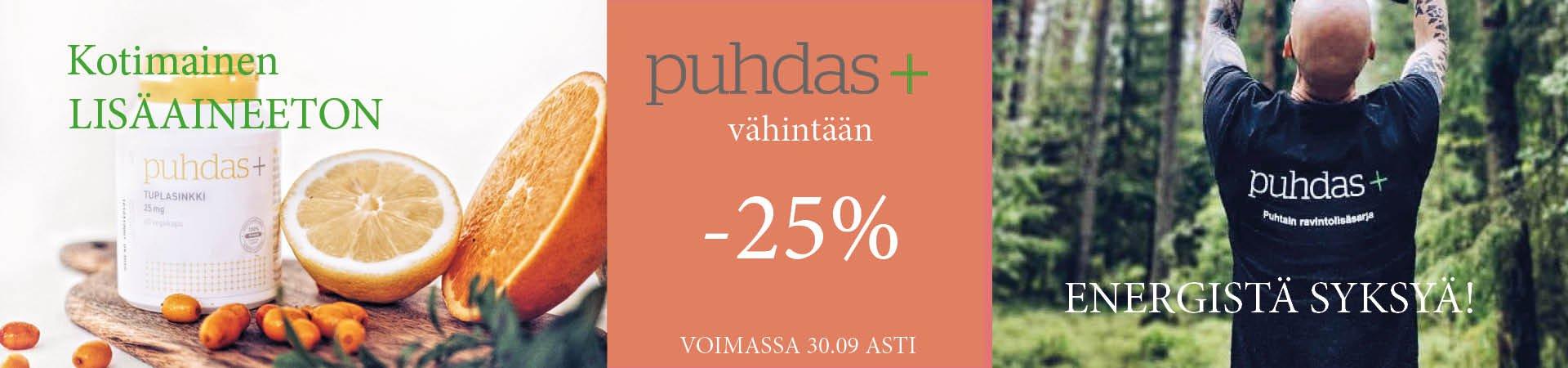 Puhdas+ -25%