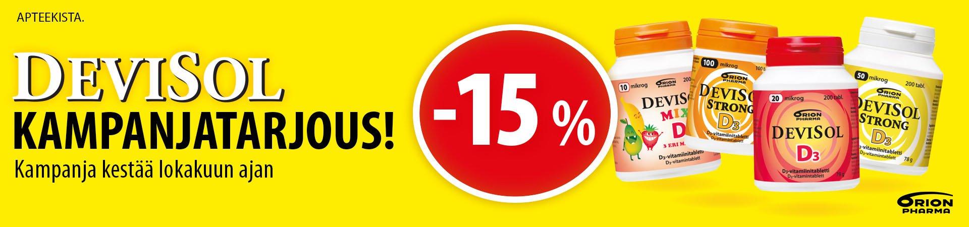 Devisol -15% lokakussa