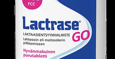Lactrase GO pilkkoo laktoosin helpommin imeytyviksi sokeriyksiköiksi - glukoosiksi ja galaktoosiksi. Alkuperäisvalmiste Lactrase on ainoa laktaasientyymi, jonka tehosta on julkaistua, kliinistä näyttöä.