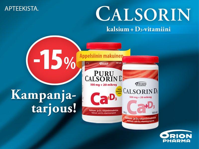 Calsorin tarjous helmikuun ajan