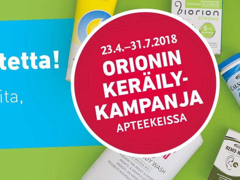 Orionin keräilykampanja alkanut