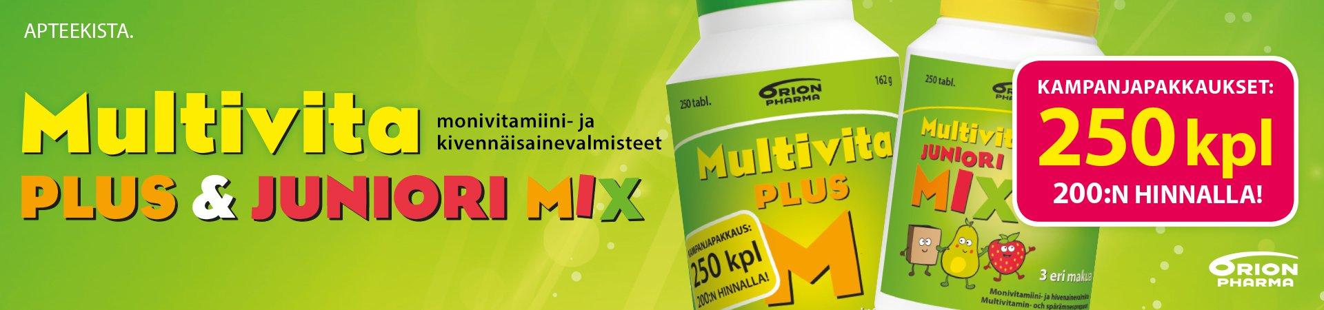Multivita kampanja pakkaukset nyt apteekissa
