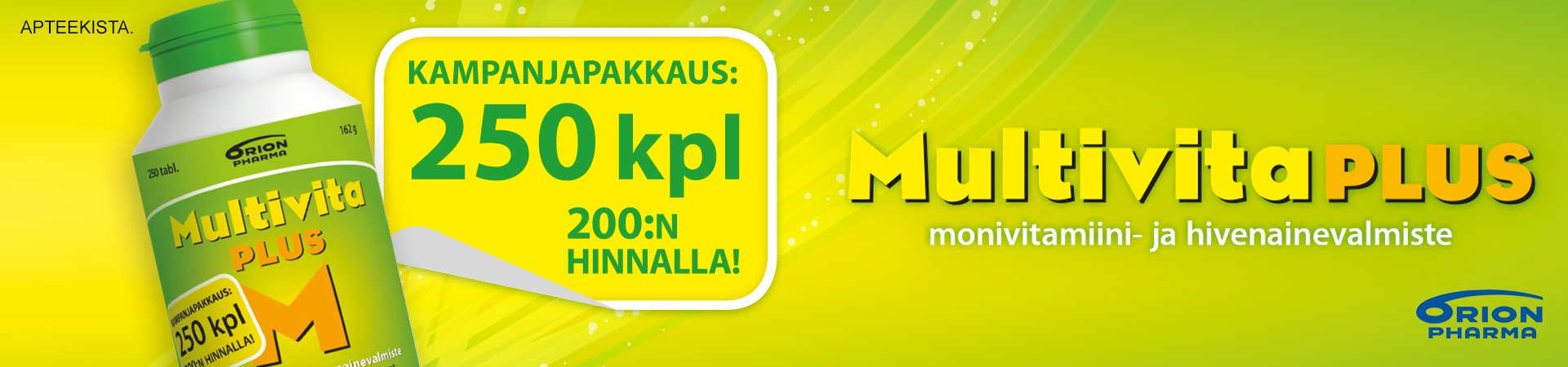 Multivita plus monivitamiini 250 tablettia kampanja