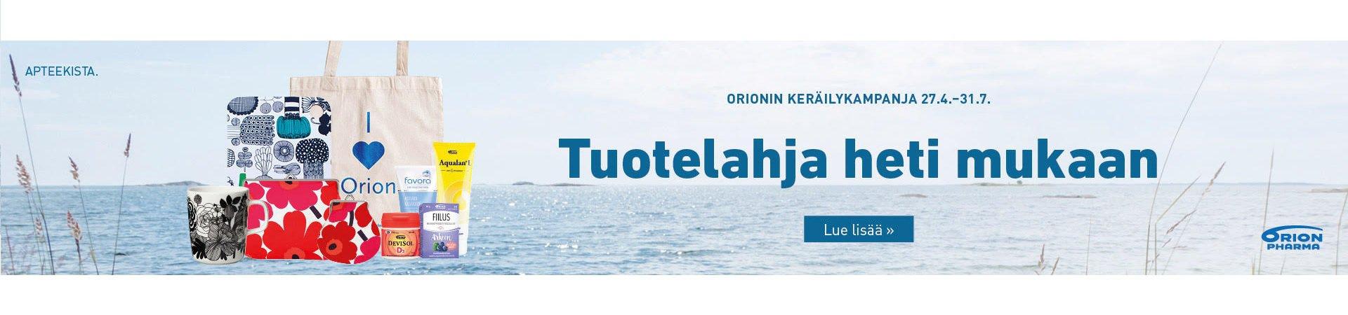 Orionin kesän keräilykampanja käynissä jälleen!